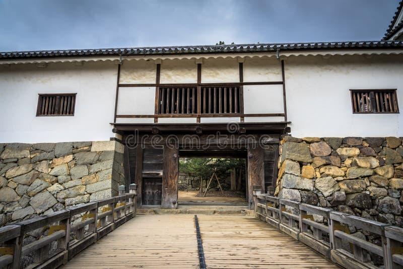 Ворота замка Hikone стоковые фотографии rf