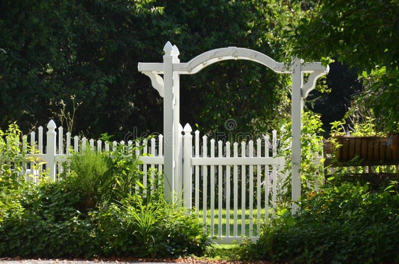 Ворота сада стоковое изображение rf