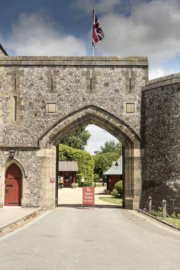 Ворот к замку Arundel западному Сассекс Arundel стоковые фото