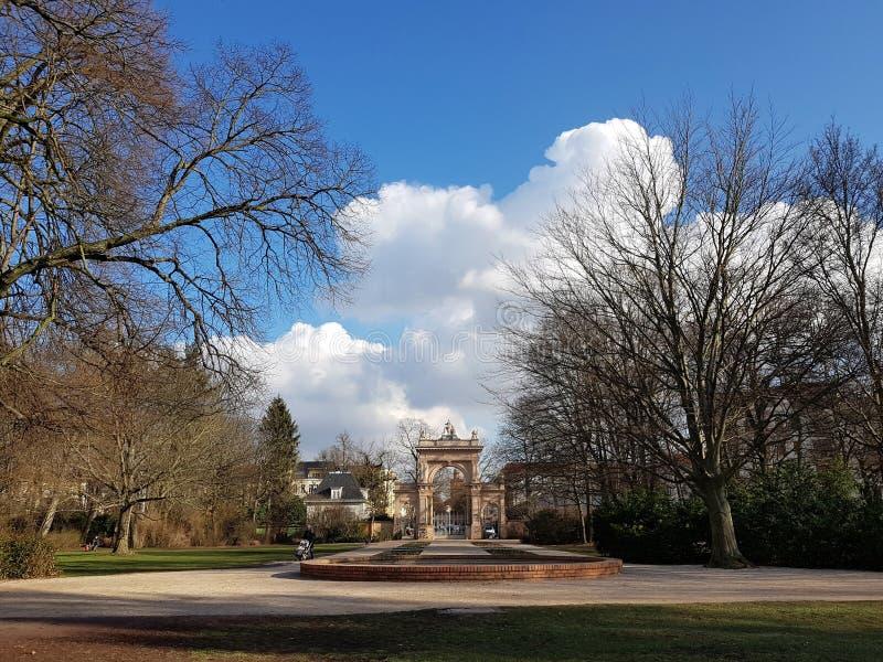 Ворот к муниципальному парку в Pankow в Берлине стоковые фото
