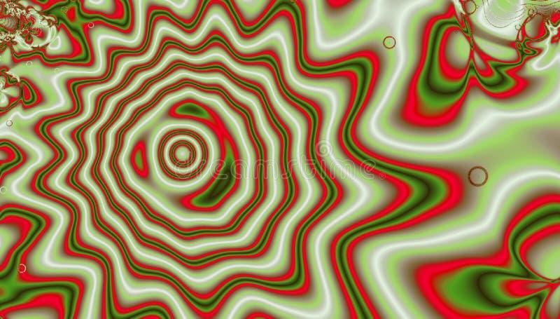 Вортекс фрактали завихряясь пламени с простой звездой иллюстрация вектора