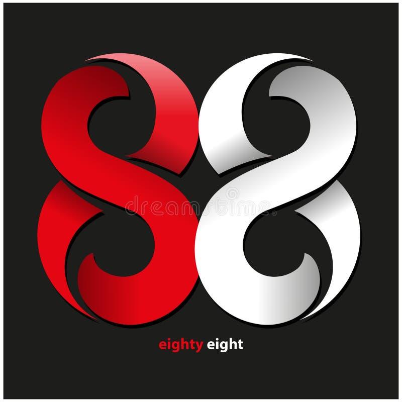 Восемьдесят восемь символов бесплатная иллюстрация