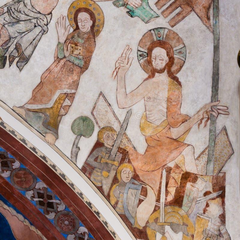 Воскресение Иисуса от усыпальницы стоковое изображение