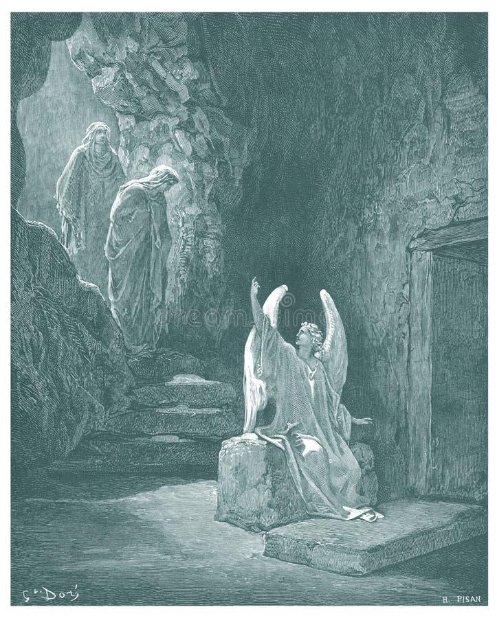 Воскресение иллюстрации Иисуса иллюстрация вектора
