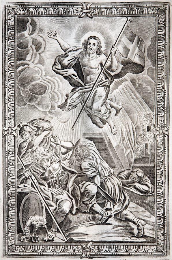 Воскресение Христоса. Romanum Missale - 1927 стоковая фотография rf