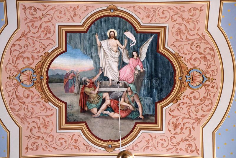 воскресение jesus стоковая фотография rf