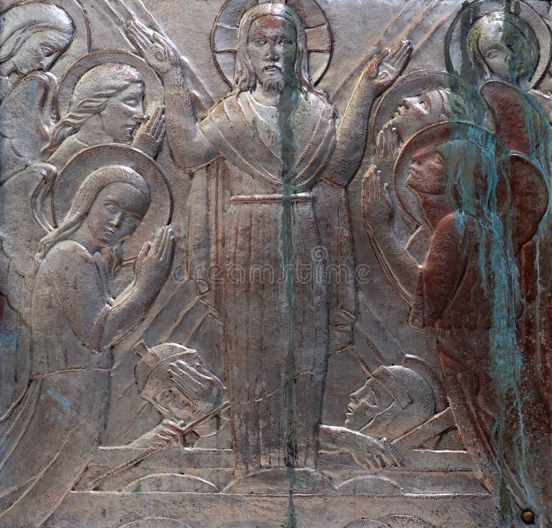 воскресение jesus стоковая фотография