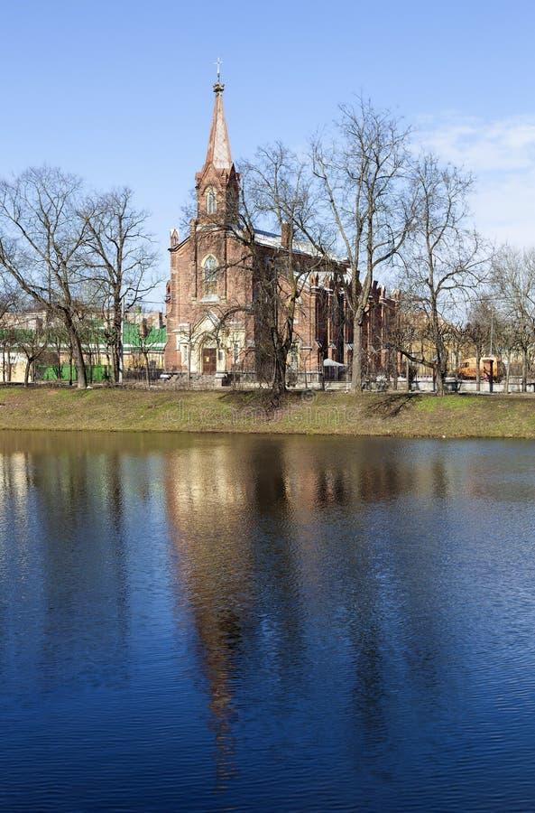 Воскресение Kirch tsarskoye selo pushkin Взгляд собора Андрюа апостола Россия стоковая фотография