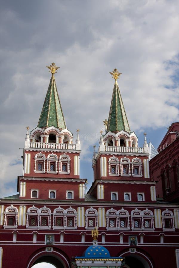 воскресение kremlin moscow строба стоковые изображения