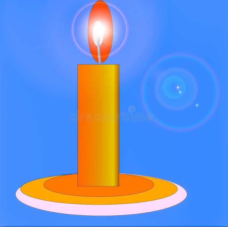 Воск свечи иллюстрация вектора