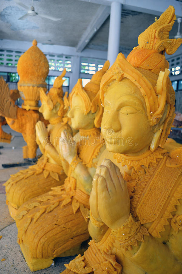 воск Таиланда искусства стоковые фотографии rf