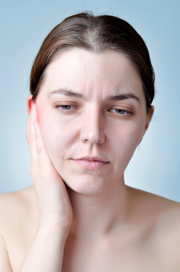 Воспаление уха стоковое фото rf