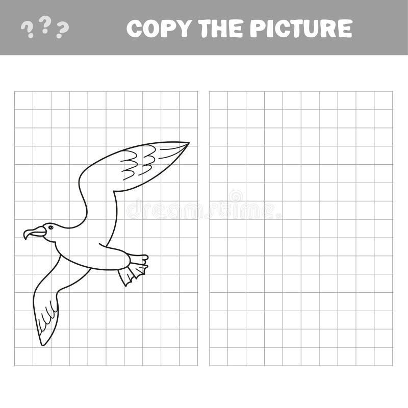 Воспитательная иллюстрация вектора птицы чайки книжка-раскраски игры иллюстрация штока
