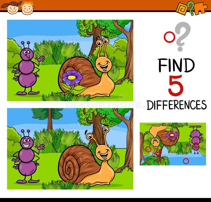 Воспитательная задача разниц иллюстрация вектора