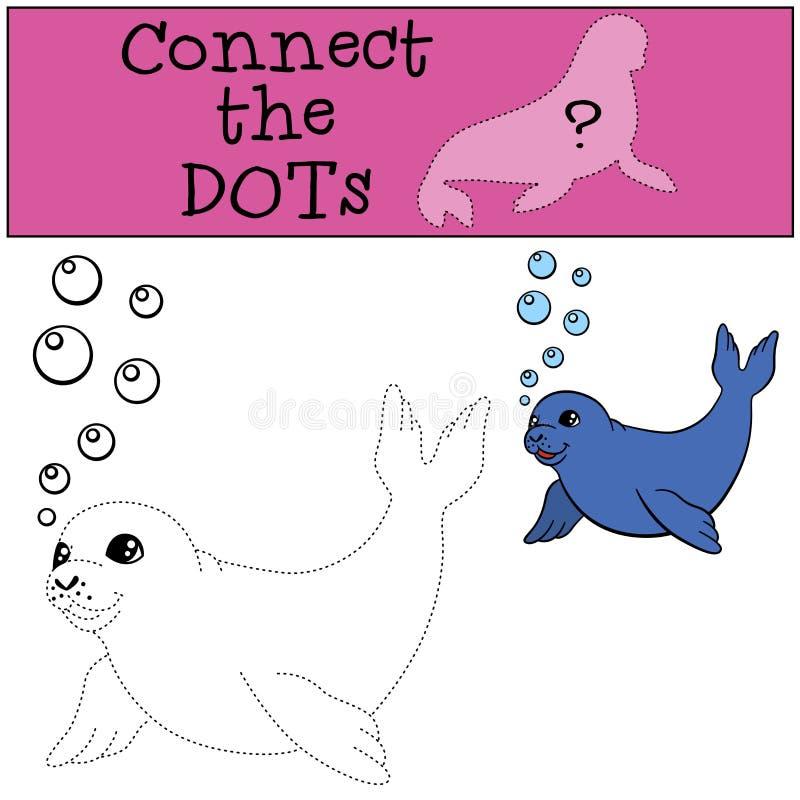 Воспитательная игра: Соедините точки Маленькое милое уплотнение младенца бесплатная иллюстрация