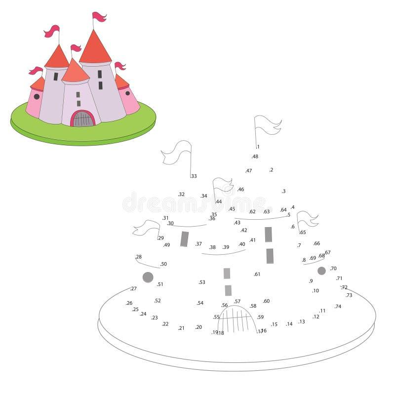 Воспитательная игра соединяет точки к шаржу притяжки иллюстрация вектора