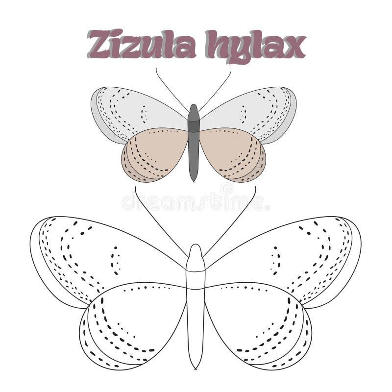 Воспитательный вектор бабочки книжка-раскраски игры бесплатная иллюстрация