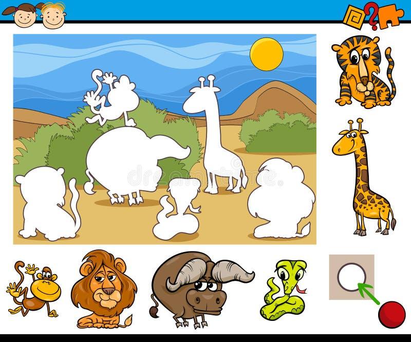 Воспитательный шарж игры preschool иллюстрация штока