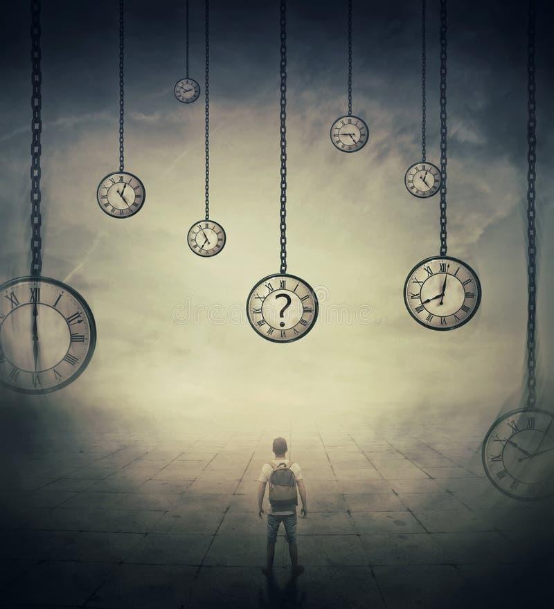 Восприятие времени стоковое изображение