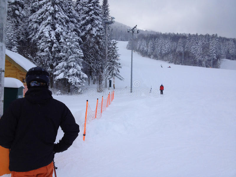 воссоздания лыжи стоковое фото rf