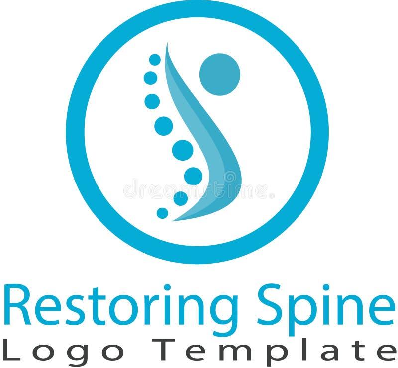 Восстанавливать изображение позвоночника и логотипа иллюстрация вектора
