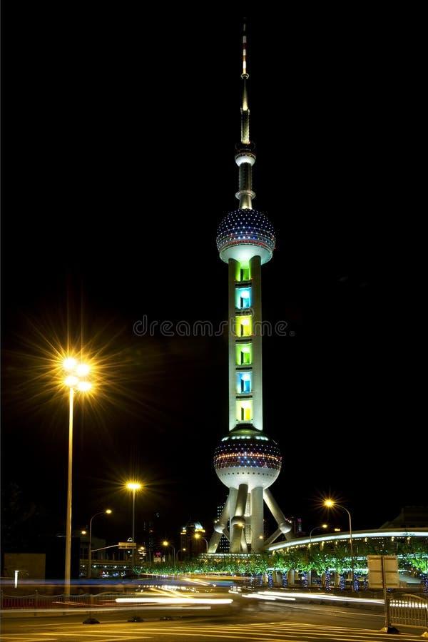 Востоковедная башня TV перлы Шанхай стоковая фотография rf