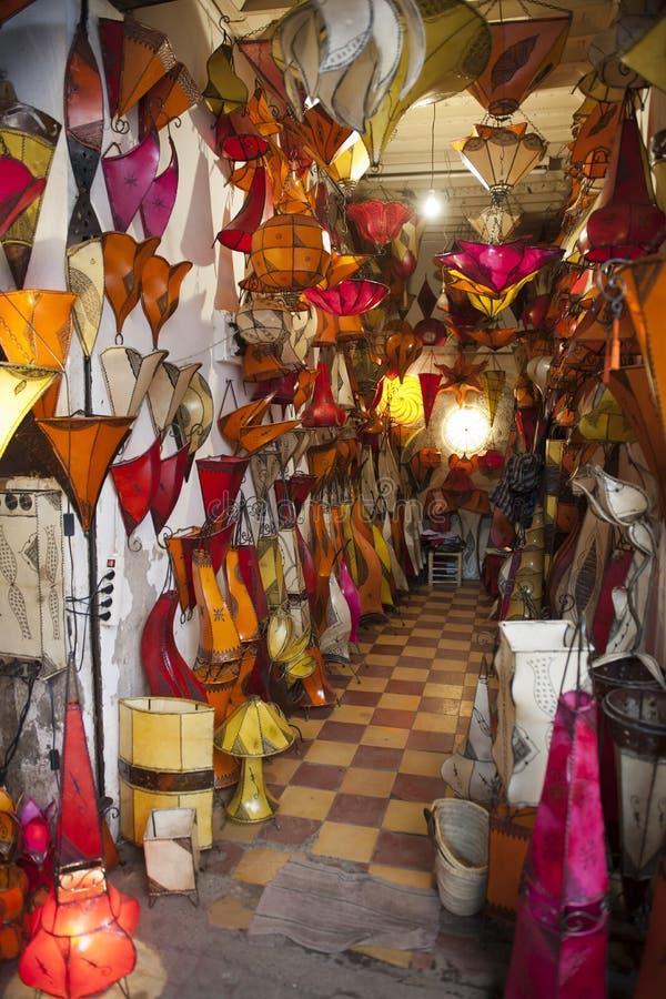 Востоковедные фонарики Marrakesh стоковое фото rf