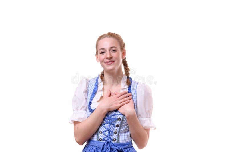 Восторженная мотивированная женщина давая большой палец руки вверх стоковое фото