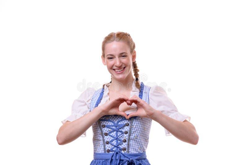 Восторженная мотивированная женщина давая большой палец руки вверх стоковая фотография rf