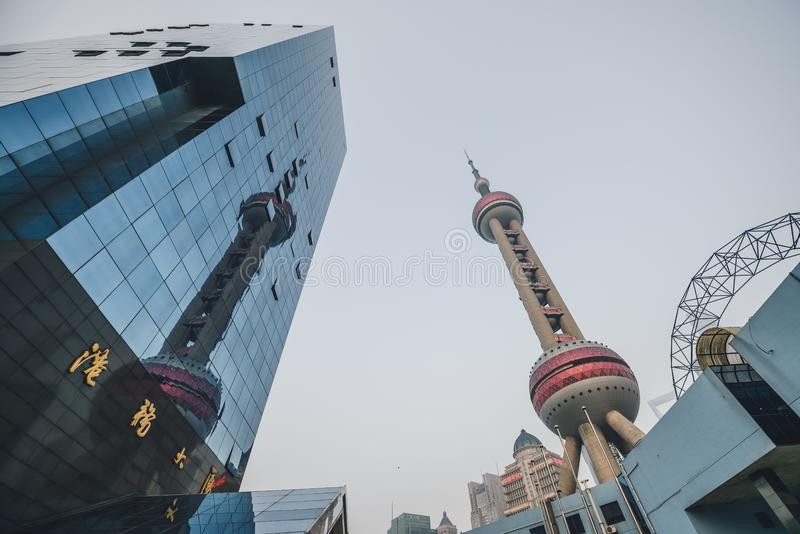 Восточная башня жемчуга, Changhai, Китай стоковая фотография rf