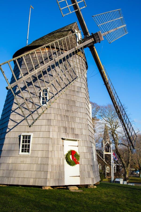 Восточная ветрянка городка Hampton на времени рождества стоковое фото rf
