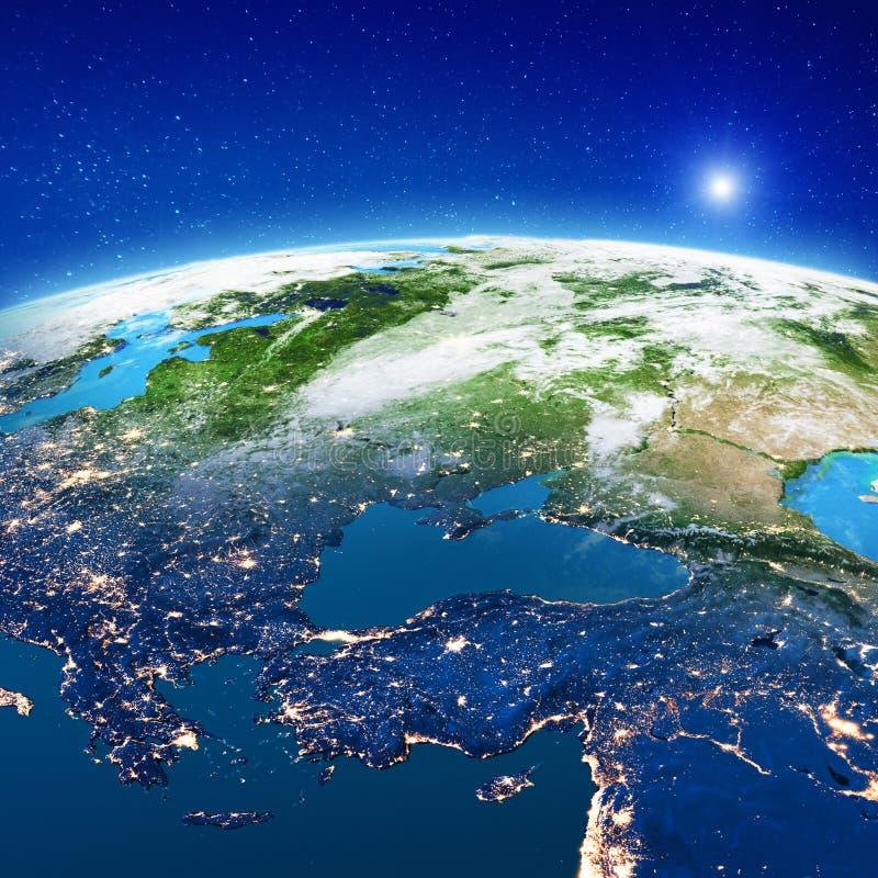 Восточная Европа - Турция, Россия и Украина иллюстрация вектора