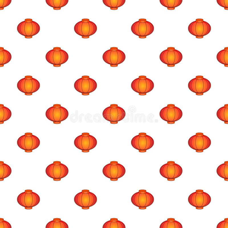 Восточная красная картина фонарика, стиль шаржа бесплатная иллюстрация