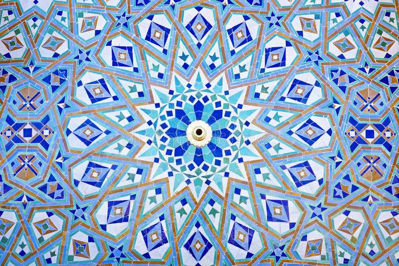 Восточная мозаика в Марокко стоковое фото