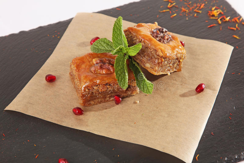 Восточная сладость с мятой стоковые изображения