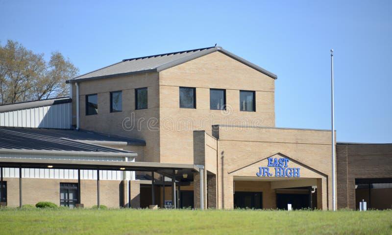 Восточное среднее школьное здание, Somerville, TN стоковые фото