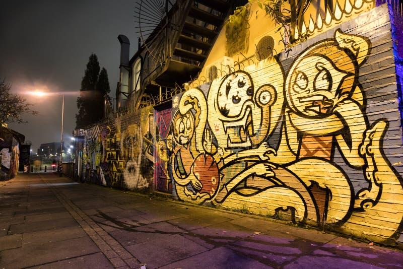 Восточные граффити Лондона стоковое фото rf