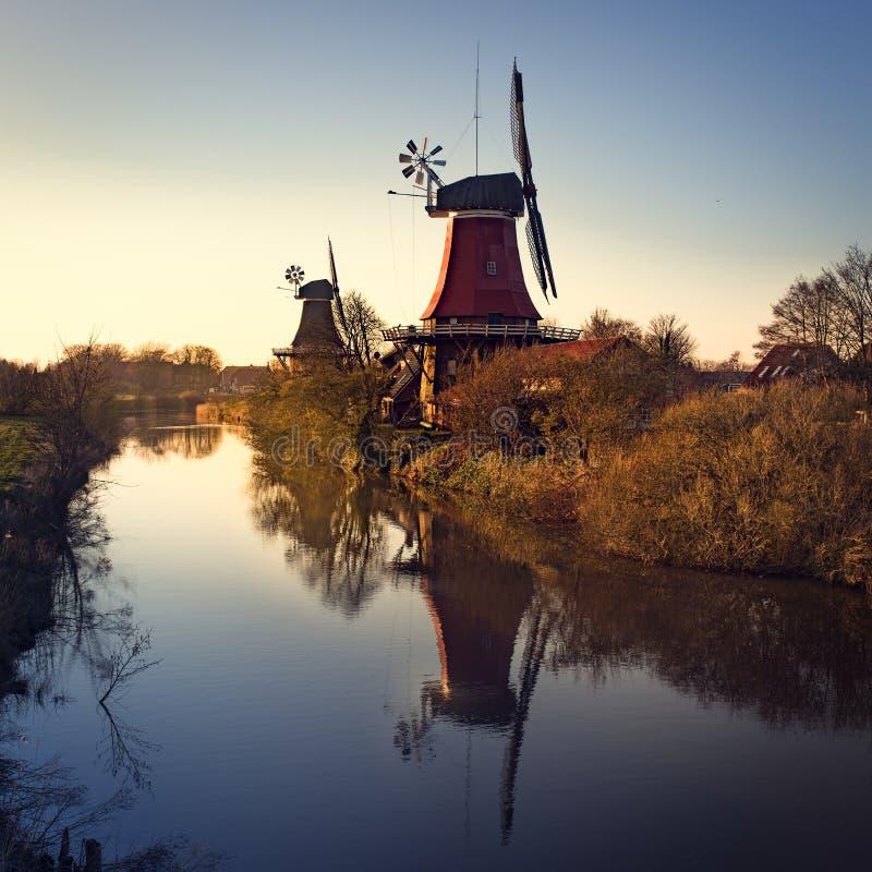 Восточные мельницы Frisian стоковое изображение