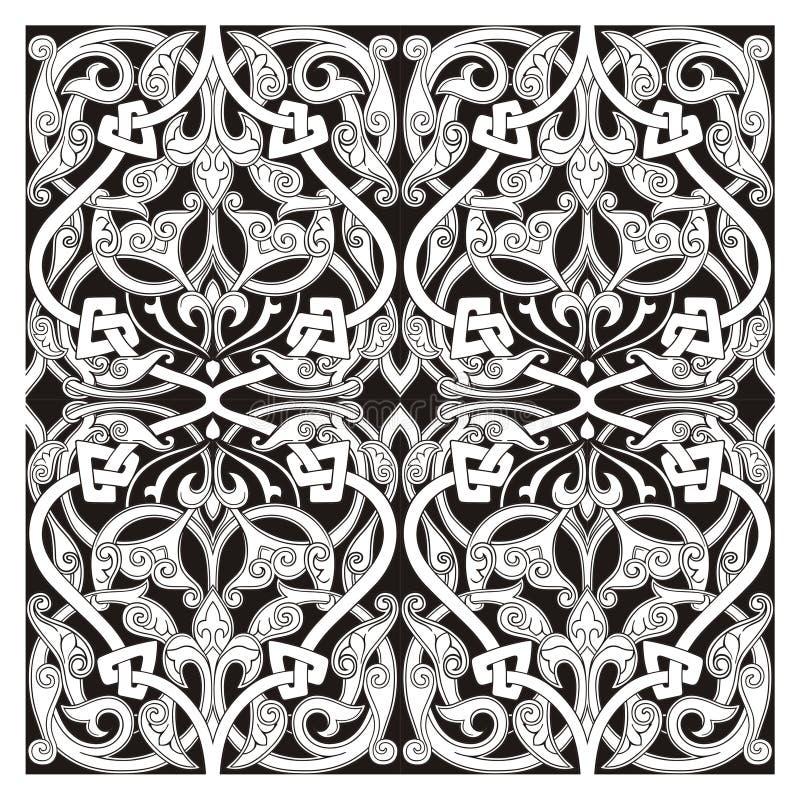 восточный вектор орнамента иллюстрация штока