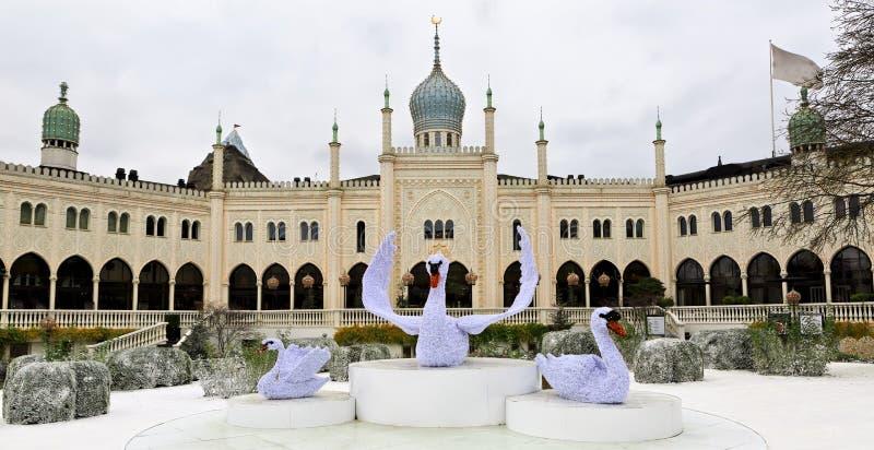Восточный дворец в садах Tivoli, Копенгаген стоковые изображения