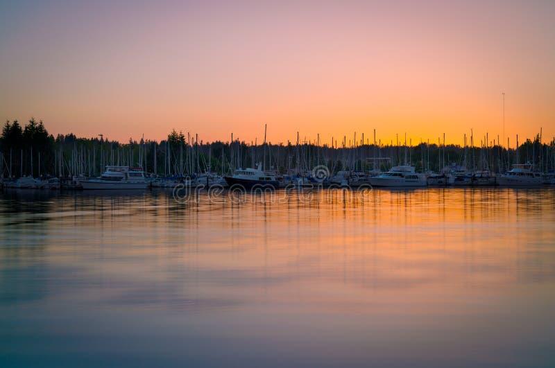 Восточный залив, Олимпия Вашингтон, США стоковые фотографии rf