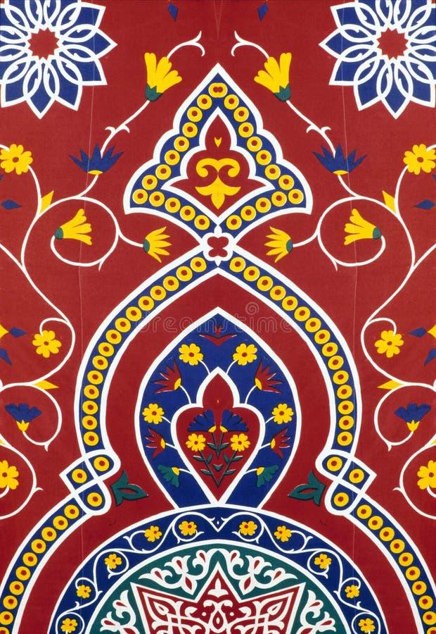 восточный красный цвет ткани стоковая фотография rf