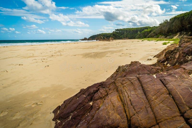 Восхитительный пляж Mallacoota в лете на солнечный день стоковое изображение rf