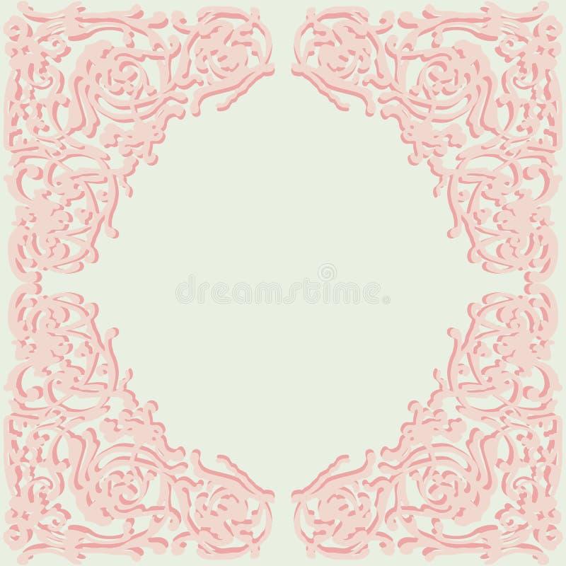 Восхитительная рамка, дизайн стиля doodle орнаментальный иллюстрация штока