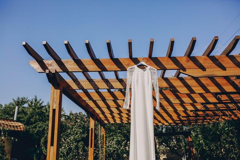 Восхитительное платье свадьбы стоковое фото rf