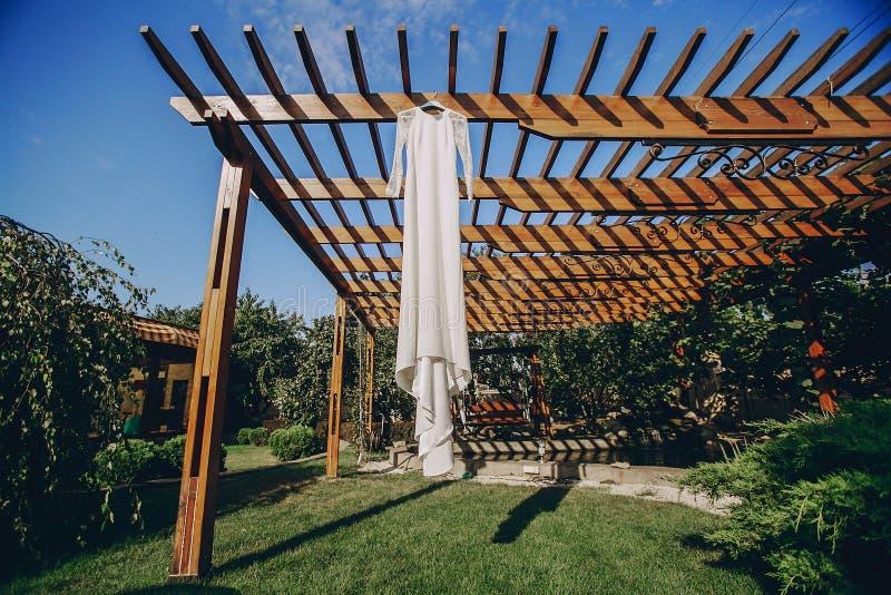 Восхитительное платье свадьбы стоковое изображение