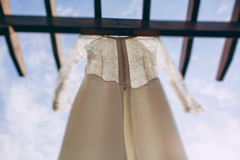 Восхитительное платье свадьбы стоковые изображения rf