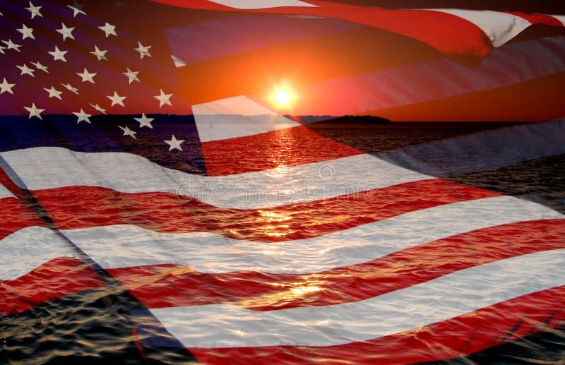восход солнца америки стоковое изображение