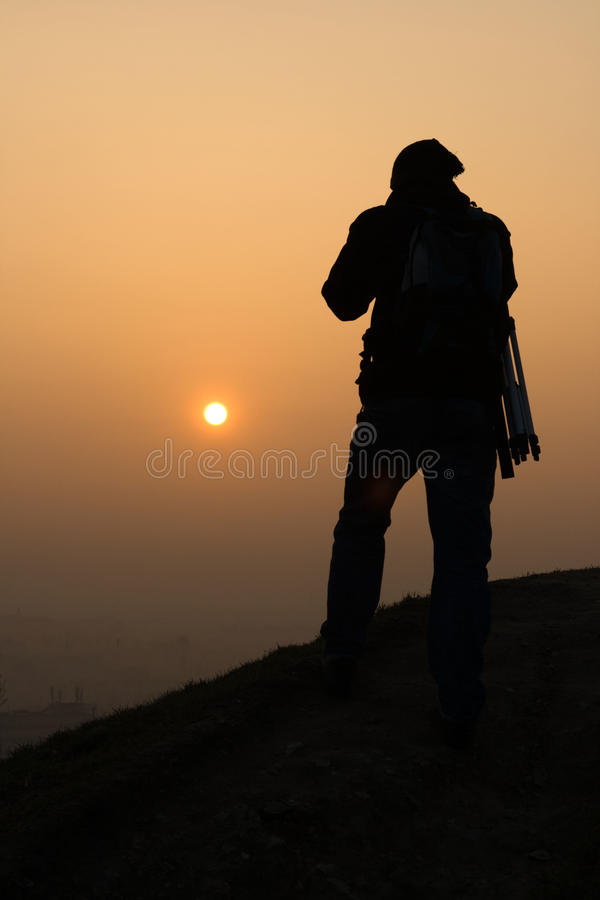 восход солнца весны звероловства стоковое фото
