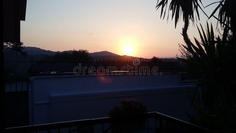 Восход солнца взгляда стоковое фото